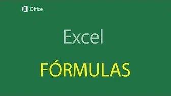 Tutorial- Formulas excel