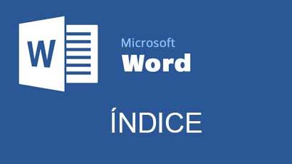 índice automático en word
